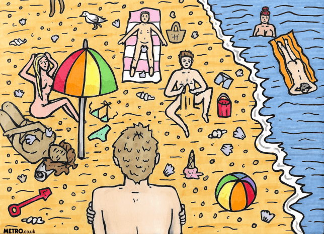 charlotte_cockell_nudistbeach_illustration