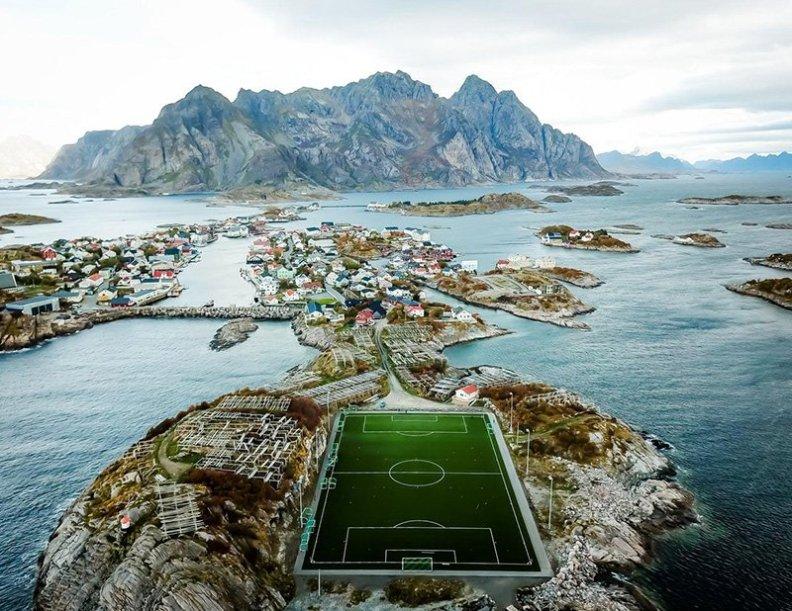 football-ground-lofoten
