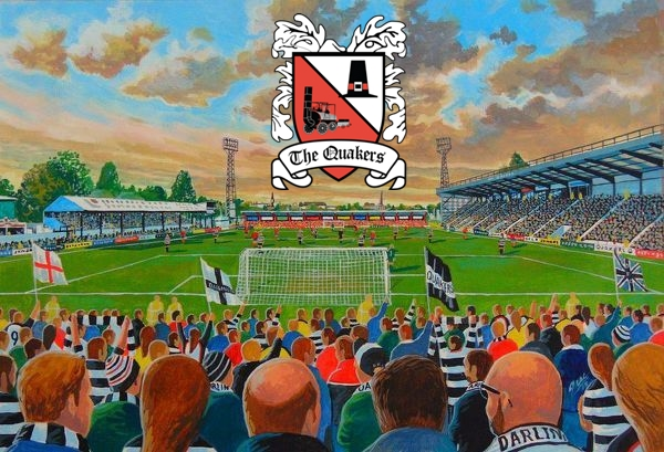 Feethams Stadium Fine Art - Darlington Football Club