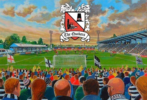 Feethams Stadium Fine Art - Darlington Football Club
