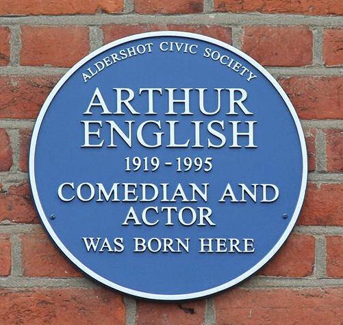 Arthur English Blue Plaque